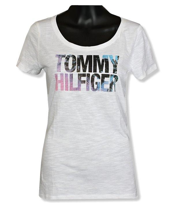 6085e7e42 Tommy Hilfiger dámské tričko s poštovným Zdarma