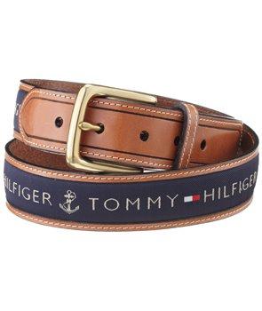 Tommy Hillfiger kožený pásek oboustranný Ribbon Inlay