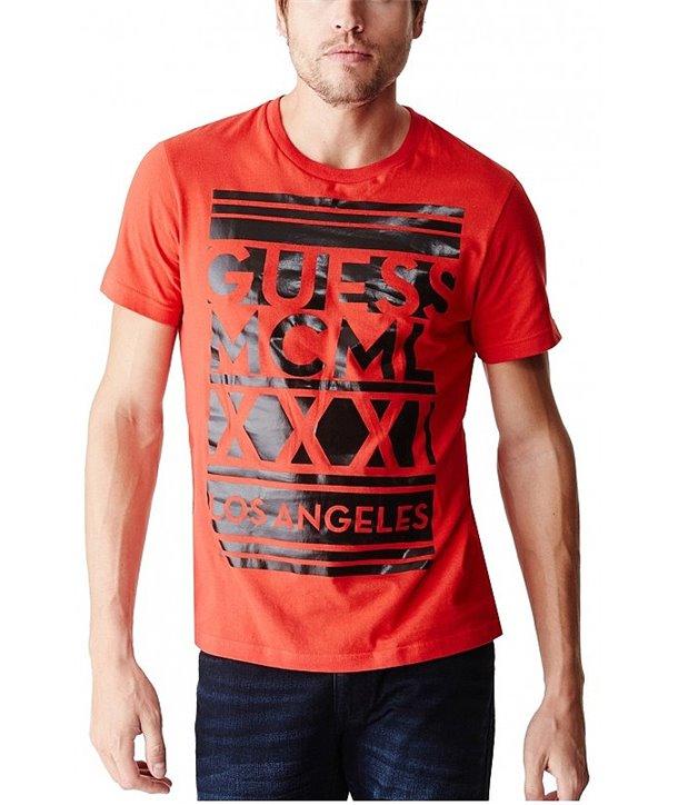 Guess pánské tričko Amstead červené