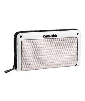 Calvin Klein dámská peněženka Sophia Weave Zip Continental multi/bílá