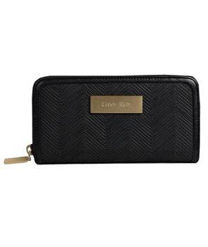 Calvin Klein dámská peněženka Valerie Zip Continental černá/wave