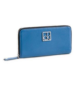 Calvin Klein dámská peněženka Caitlin Zip Continental modrá