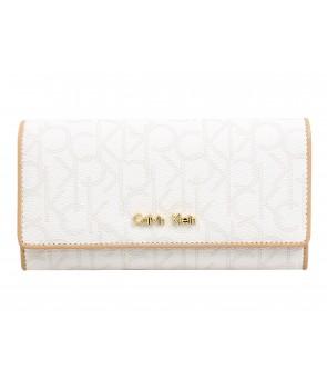 Calvin Klein dámská peněženka Jordan Flap Continental Jacquard embossed logo