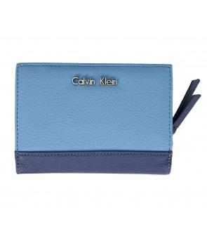 Calvin Klein dámská peněženka dárkový set s klíčenkou Sadie Logo modrý