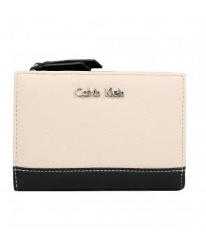 Calvin Klein dámská peněženka Sadie embossed logo beige