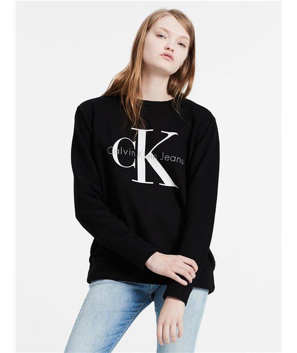 Calvin Klein dámská mikina VINTAGE LOGO SWEATSHIRT černá