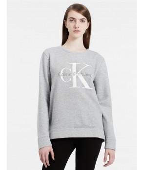 Calvin Klein dámská mikina VINTAGE LOGO SWEATSHIRT šedá