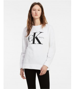 Calvin Klein dámská mikina VINTAGE LOGO SWEATSHIRT šedá 42MK978