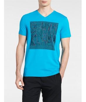 Calvin Klein pánské tričko SLIM FIT ABSTRACT LOGO 2189404