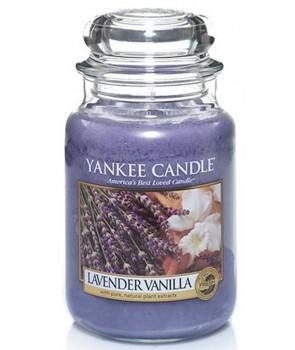 Yankee candle Classic svíčka Lavender Vanilla střední 411g