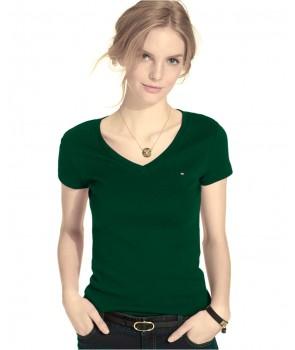 Tommy Hilfiger dámské tričko solid v-neck 555500