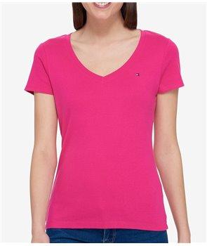 Tommy Hilfiger dámské tričko solid v-neck 555650
