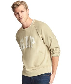 GAP mikina Logo crewneck sweatshirt