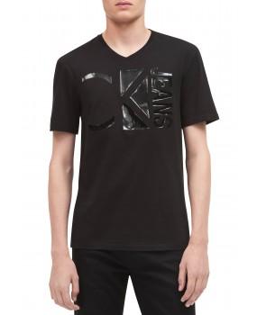 Calvin Klein pánské tričko Tonal Logo černé