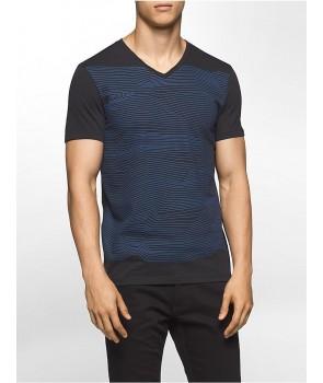 Calvin Klein pánské tričko WAVE LENGTH V-NECK