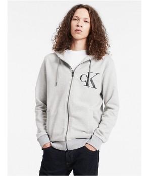 Calvin Klein pánské mikina Logo Full Zip hoodie 2168038