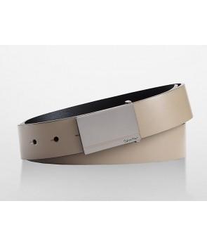 Calvin Klein pásek kožený LOGO PLAQUE