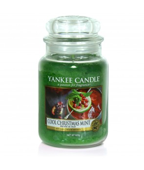 Yankee Candle svíčka Cool Christmas Mint 623g