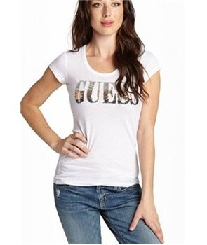 Guess dámské tričko Gabriella bílé