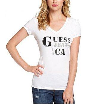 Guess dámské tričko Angeles bílé