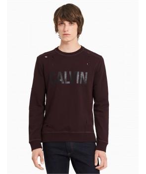 Calvin Klein pánské mikina hoodie s kapucí 41H5891 flame
