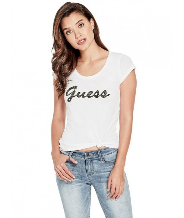 Guess dámské tričko Liza Threaded černé
