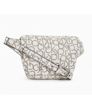 Calvin Klein dámská kabelka monogram chainlink tote nat