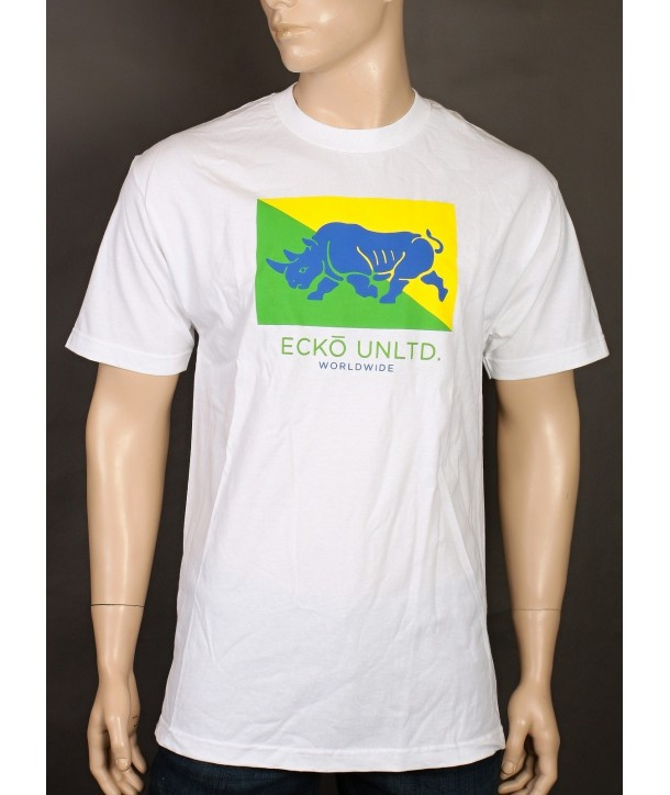 Ecko Untd pánské tričko Core Flag Rhino wht