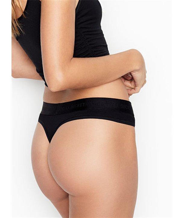 Victorias secret kalhotky tanga thongs 3993-DL3 černé
