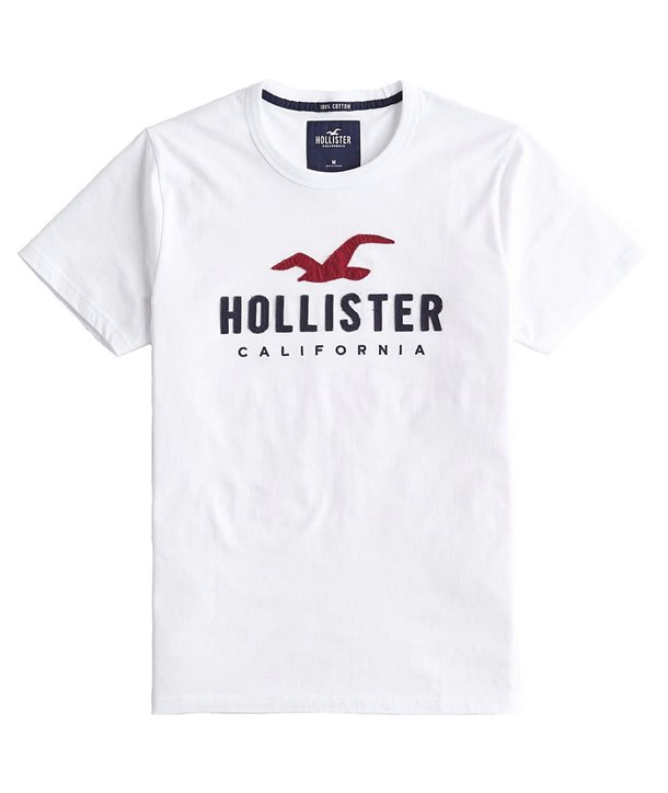 Hollister pánské tričko iconic bílé 0242100