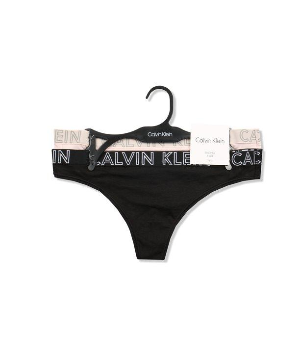 Calvin Klein kalhotky Tanga D1617 černé