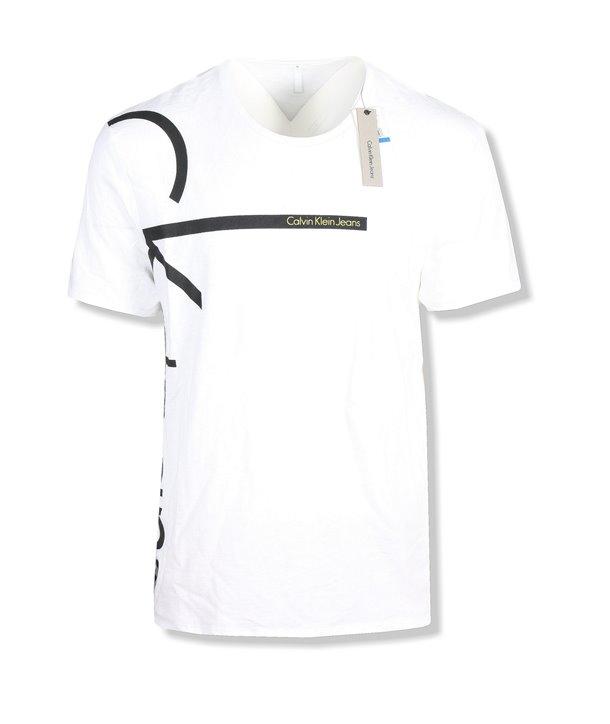 Calvin Klein pánské tričko iconic logo 9103 bílé