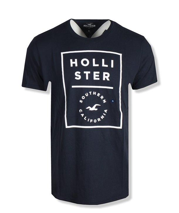 Hollister pánské tričko Logo bílé 0210-100