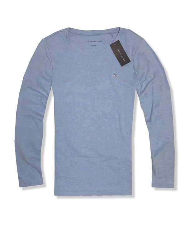 Tommy Hilfiger dámské tričko Crew red/brwn 204-218