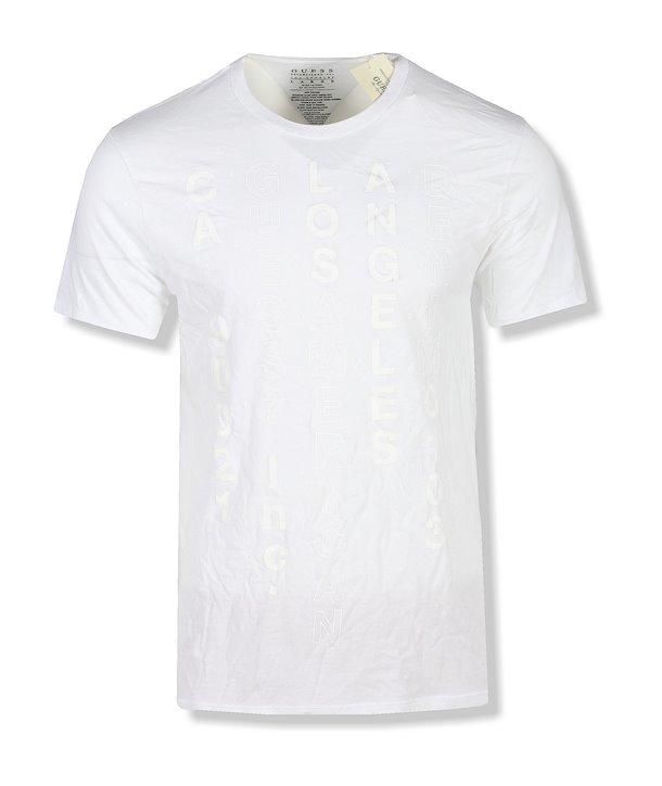 Guess pánské tričko Pop Color Logo bílé