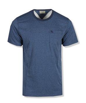 Abercrombie & Fitch pánské tričko logo print tmavě modré 0084-023