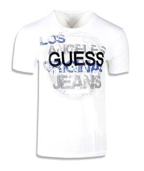 Guess pánské tričko Brilliant bílé