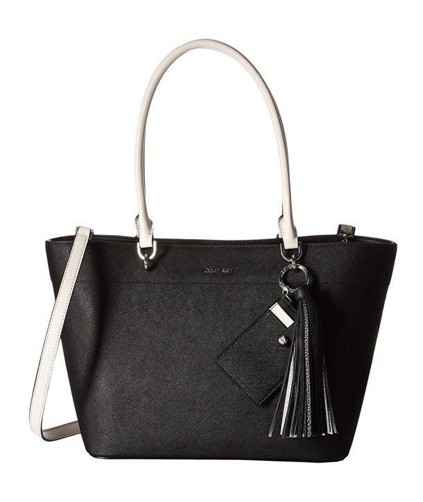 Calvin Klein kabelka kožená Hayden Saffiano East/West Tote