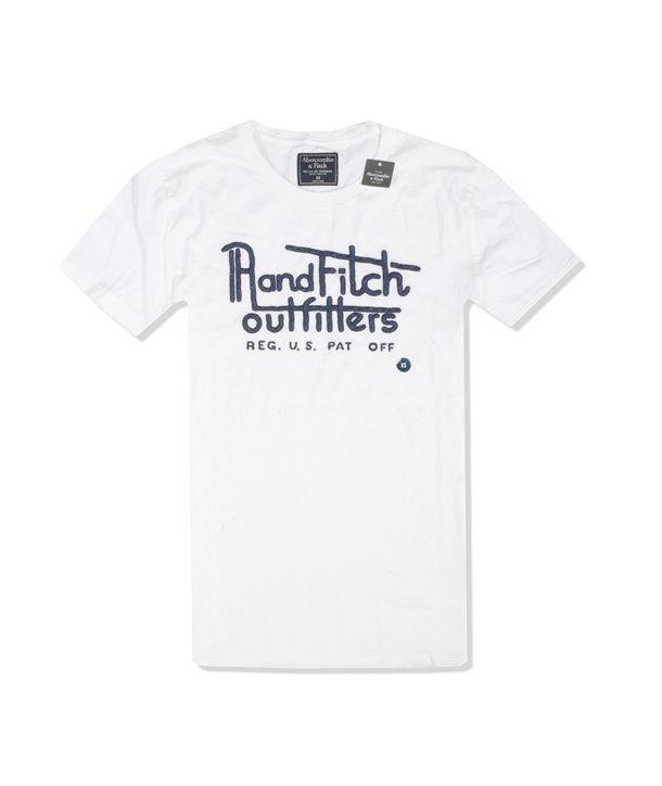 Abercrombie & Fitch pánské tričko Logo Crew v-neck 1815-500