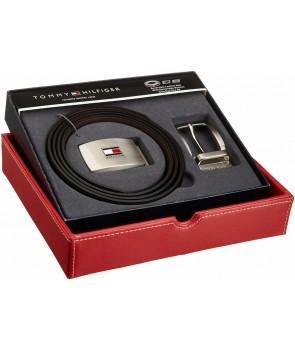 Tommy Hilfiger kožený pásek černý dárkový set Btight