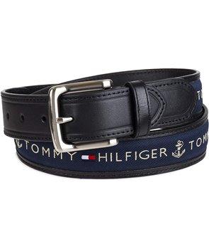 Tommy Hilfiger kožený pásek Ribbon Inlay blue